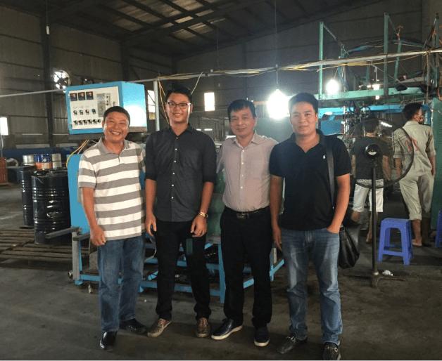 浈颖机械pvc滴塑设备的越南之旅!